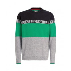 Guess COLOR BLOCK JAQUARD SWEATER